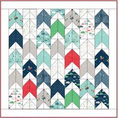 Going Up! Free Baby Quilt pattern by Keera Job of LIVE.LOVE.SEW Pattern Co.
