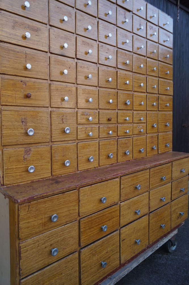 Industrie Schubladenschrank Apothekerschrank Loft Fabrik Werkstatt Ladenschrank Schubladenschrank Apothekerschrank Ladenschranke