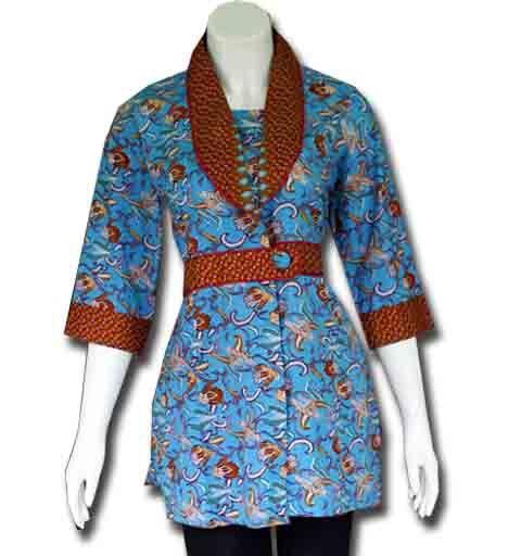 blus batik wanita modern