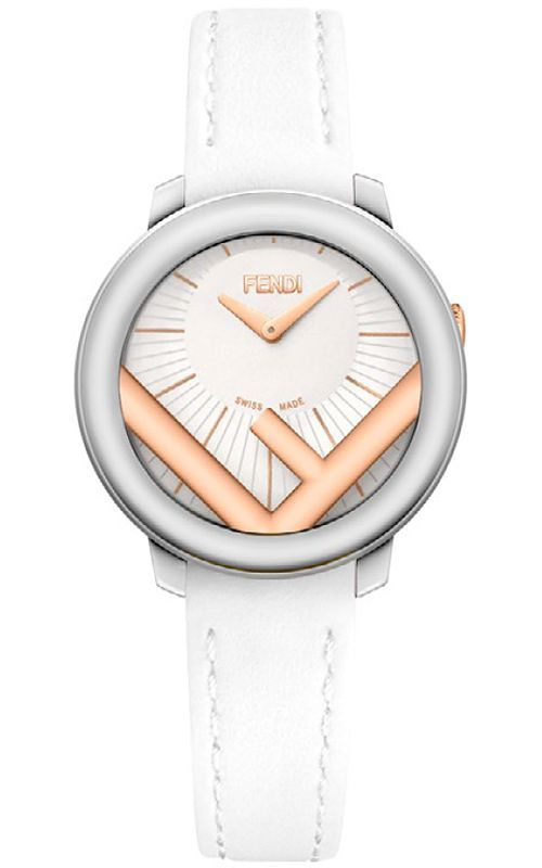 F710224041 Fendi Run Away 28mm Women s Two Tone Watch - Silvertone Rose  Gold Case e082f49ef6b4