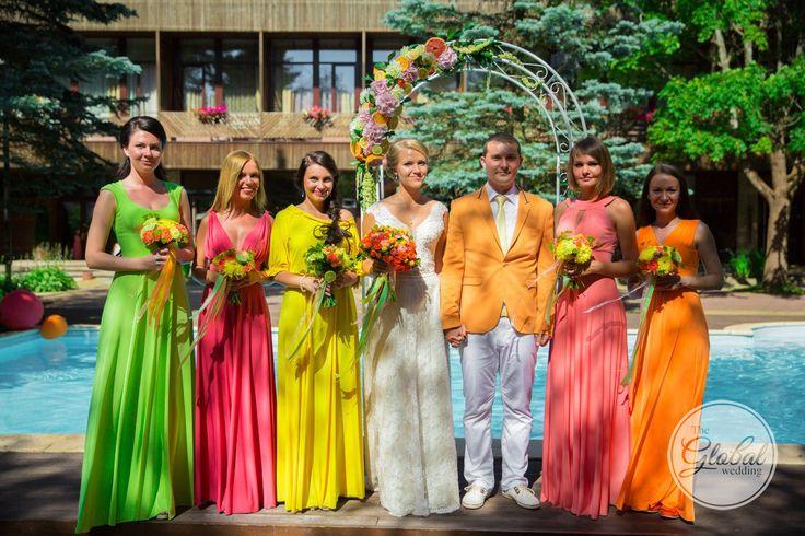 Citrus wedding Ceremony arch Wedding decor and floristic Цитрусовая свадьба Выездная регистрация Декор и флористика