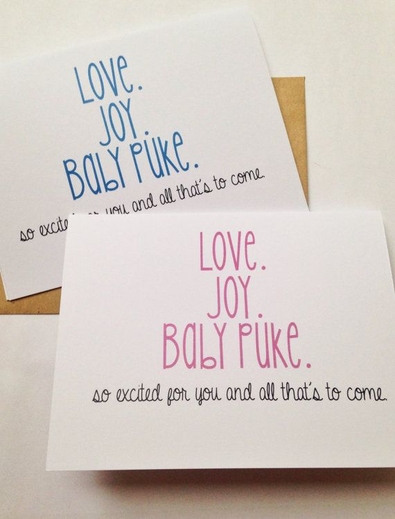 Funny New Baby Card / New Parent Card / Humor by BEpaperie on Etsy