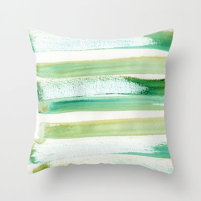 Green Obsession Throw Pillow by Alina Sevchenko - $20.00