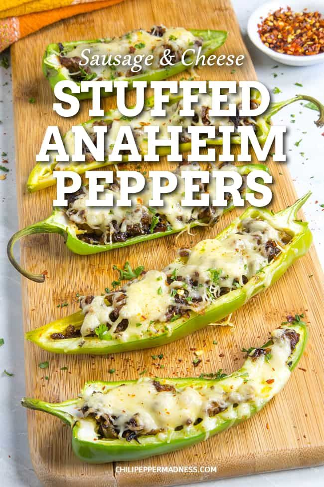 Sausage And Cheese Stuffed Anaheim Peppers A Recipe For Mild Anaheim Peppers Stuffed With Seasoned Ital Stuffed Peppers Spicy Recipes Stuffed Anaheim Peppers
