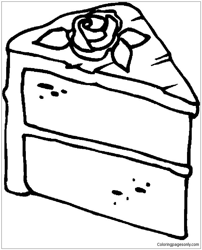 Slice Cake Coloring Page Candy Coloring Pages Cupcake Coloring Pages Coloring Pages