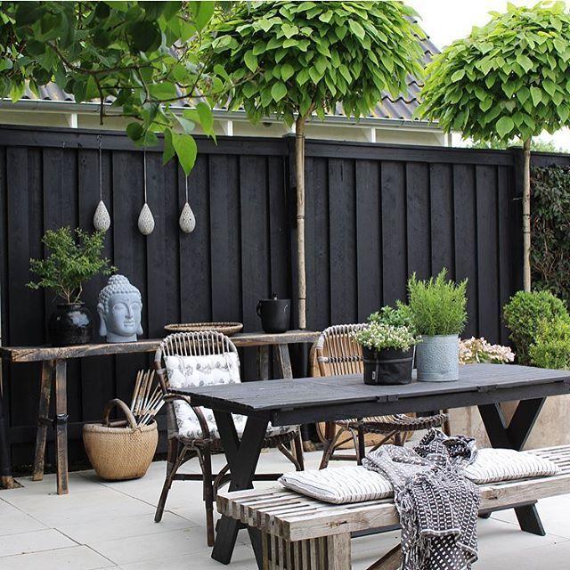 Gleicher Zaun, aber in grauer Holzfarbe … – #abe…