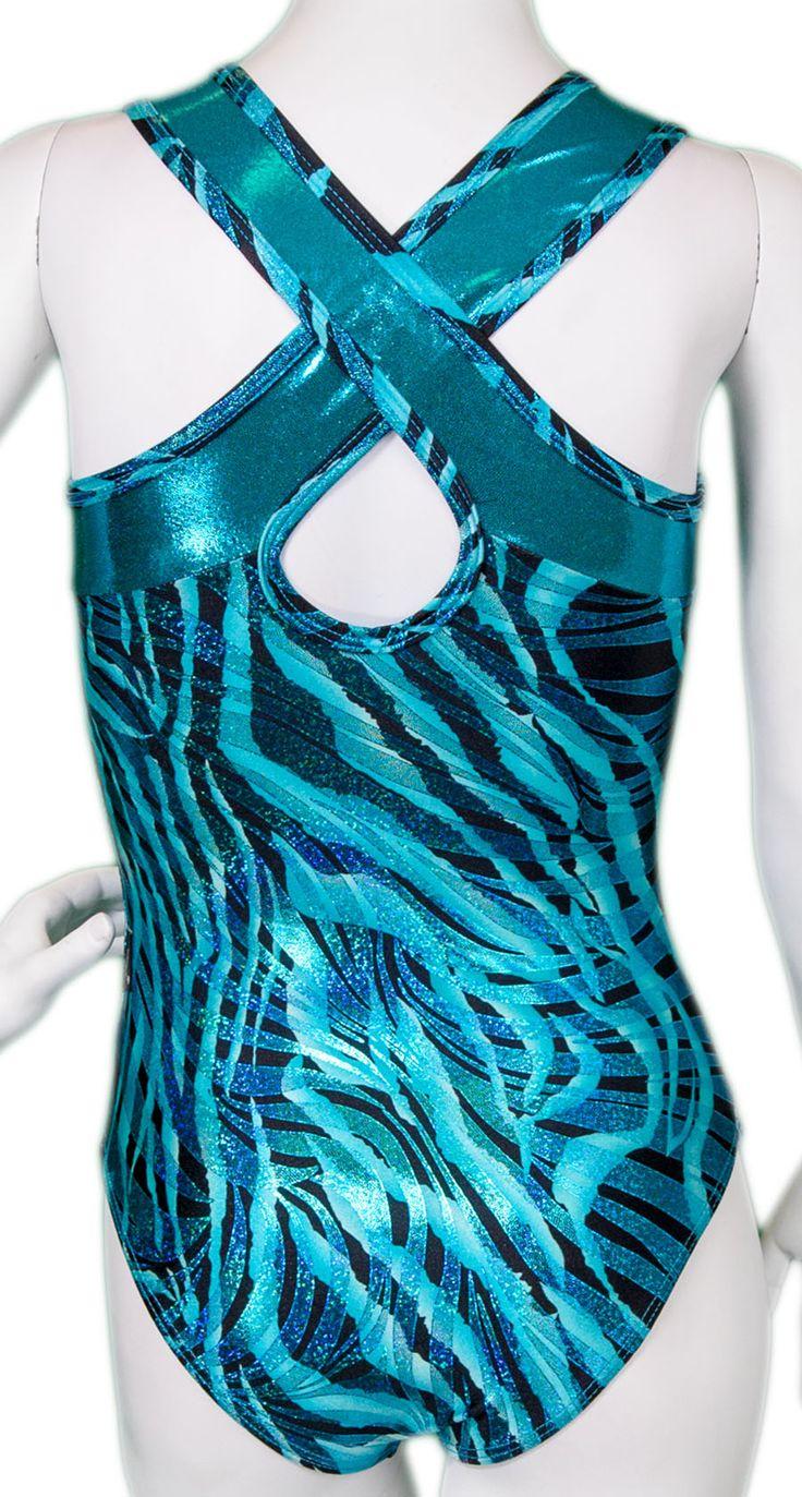 Destira: Cascade Zebra Emerald Leotard #leotards #gymnastics