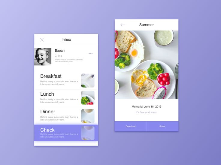 Food App Design by Baoan #Design Popular #Dribbble #shots