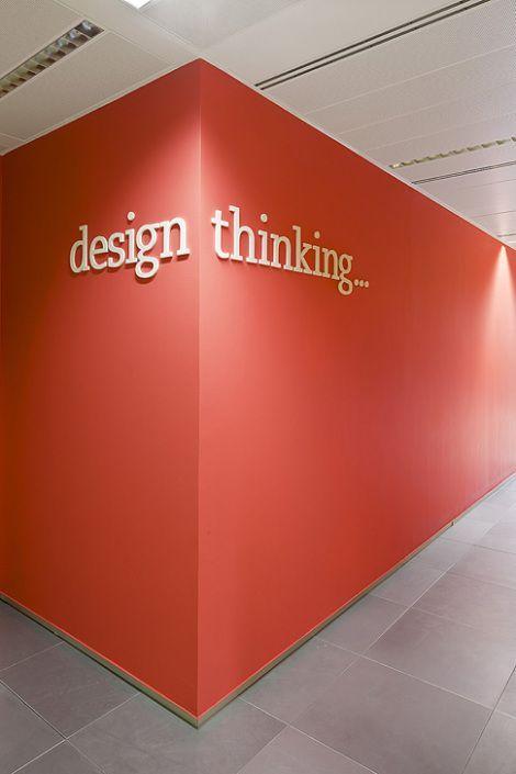 Simple signage idea #office #signage #moderndesign http://www.ironageoffice.com/