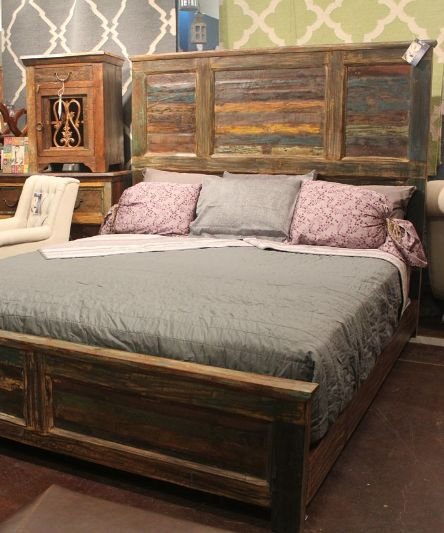 The subtle colors in the reclaimed wood gives this bed tons of personality.  #bedroom - 24 Best Images About Reclaimed Wood On Pinterest Houston