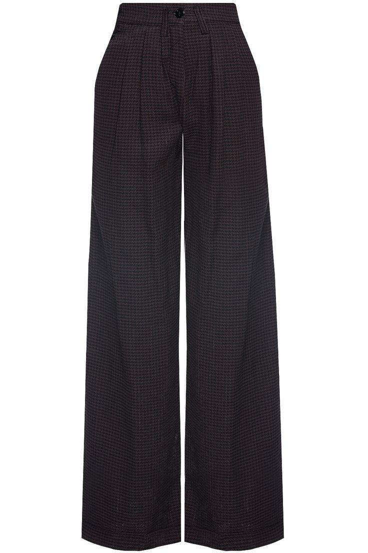 Gülçin Uzunalan - Kareli Yüksek Bel Pantolon
