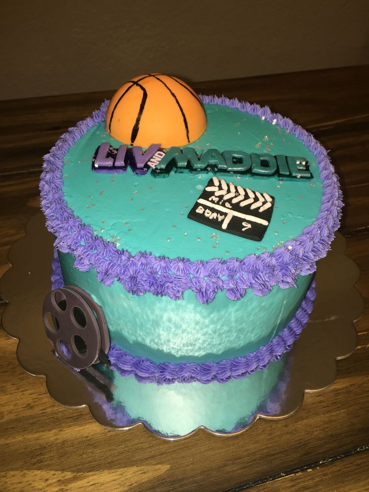 Liv and Maddie Cake. Frosting fondant girls cake