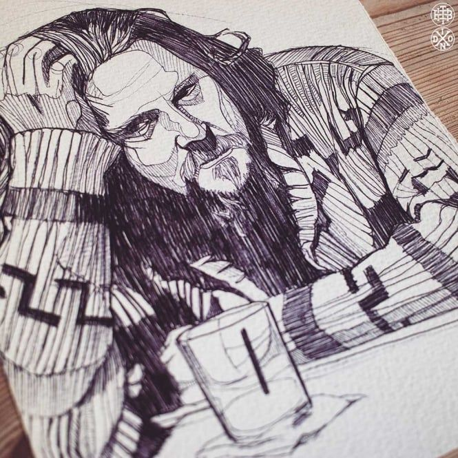 DUDE - BIG LEBOWSKI - ORIGINAL DRAWING