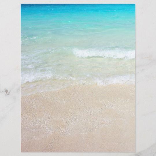 Beach Background Double Sided Blank Wedding Paper Zazzle Com