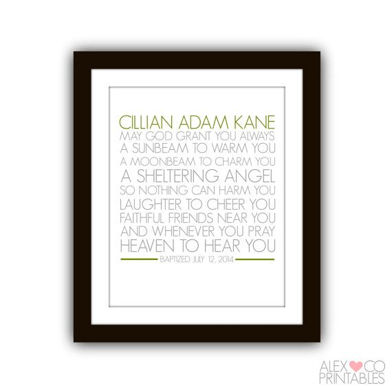 Irish Blessing Baptism Printable by alexandcoprintables on Etsy, $5.00