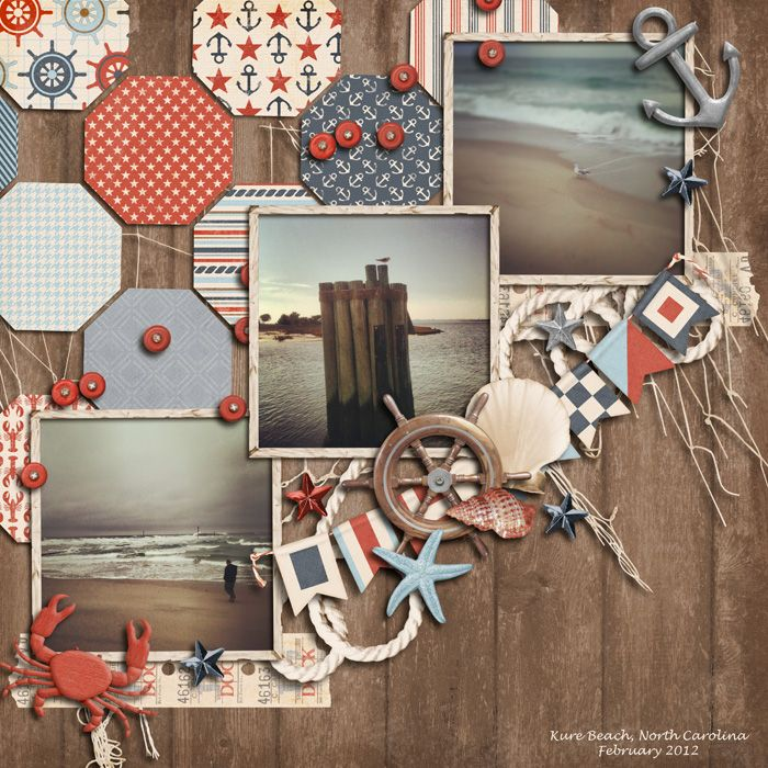 scrapbook layout - 3 square photos