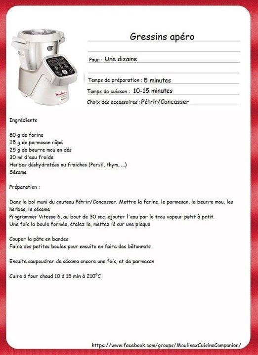 LES ENTRÉES   recette companion 02100