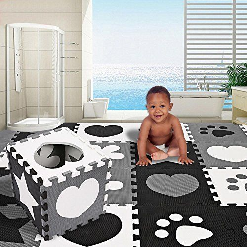 Kids Baby Crawling Play Mat Non-Toxic Extra Thick Foam Large with Gate Fence