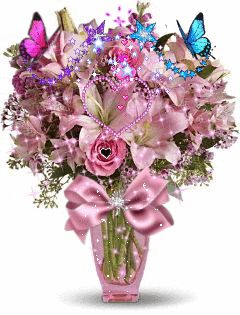 THESE FLOWERS AND THE OTHER THINGS IN THIS VASE ARE MOSTLY VIOLET SO I'M PUTTING THIS OM MY PURPLE BOARD. AND IT ALL SPARKLES TOO.