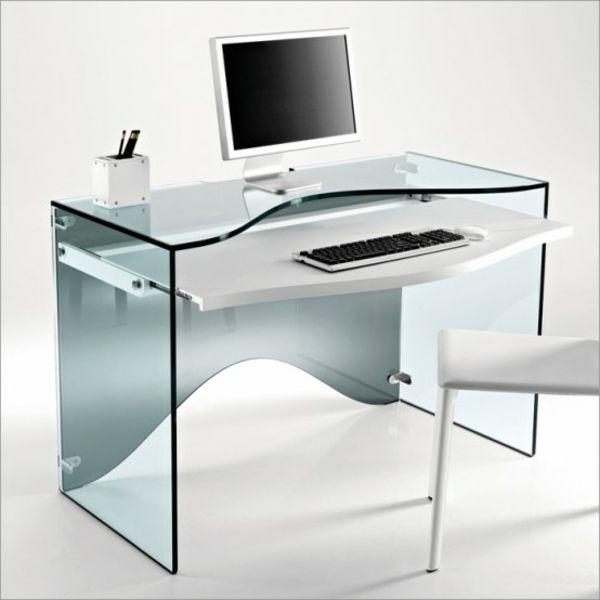 Unique Office Desk Glass Tisch Modernes Design Schicke Material With Inspiration