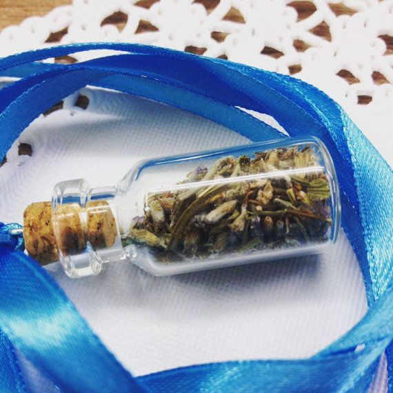 Make your own tiny bottle necklace Spice or herb by Armenos