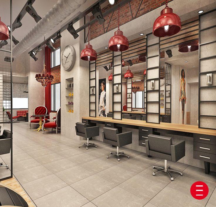 Kuaf%C3%B6r Salonu Dekorasyonu on Hair Salon Interior Design