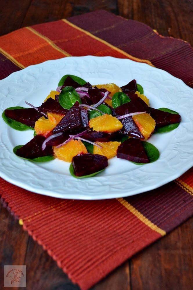 CAIETUL CU RETETE: Salata de sfecla rosie cu portocale