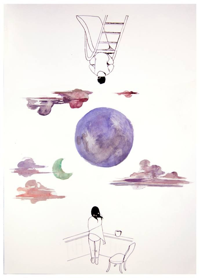 Under the same two moons - Haruki Murakami, 1Q84  http://www.haruki-murakami.com/post/93295229145/under-the-same-two-moons-haruki-murakami-1q84