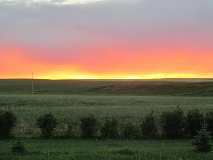 prairie sunset, Saskatchewan, Canada - taken by my friend Mitzy.: My Friend, Sun Sets, Sunsets, Prairie Sunset, Friend Mitzy, Sun Rises