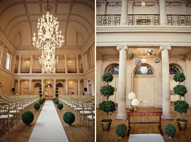 Bath Assembly Rooms, an amazing Georgian  wedding venue featuring great architecture and elegant chandeliers, photograph by Marianne Taylor Photography from the wedding of Alexis (of OMG I'm getting married wedding blog fame) and Jack