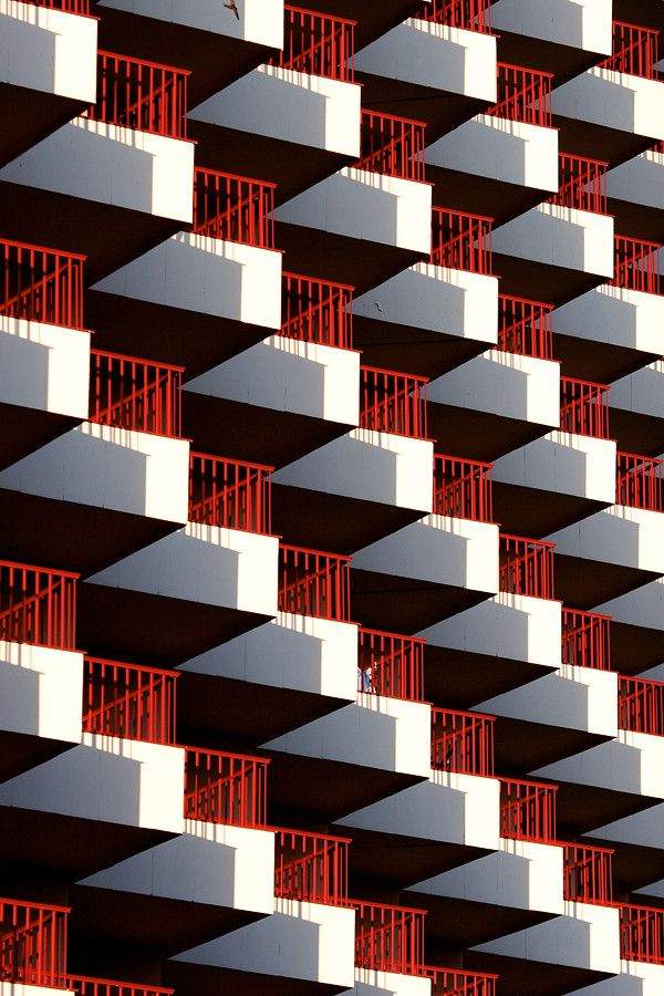 Red | Rosso | Rouge | Rojo | Rød | 赤 | Vermelho | Color | Colour | Texture | Form | Balconies by Ville Hy