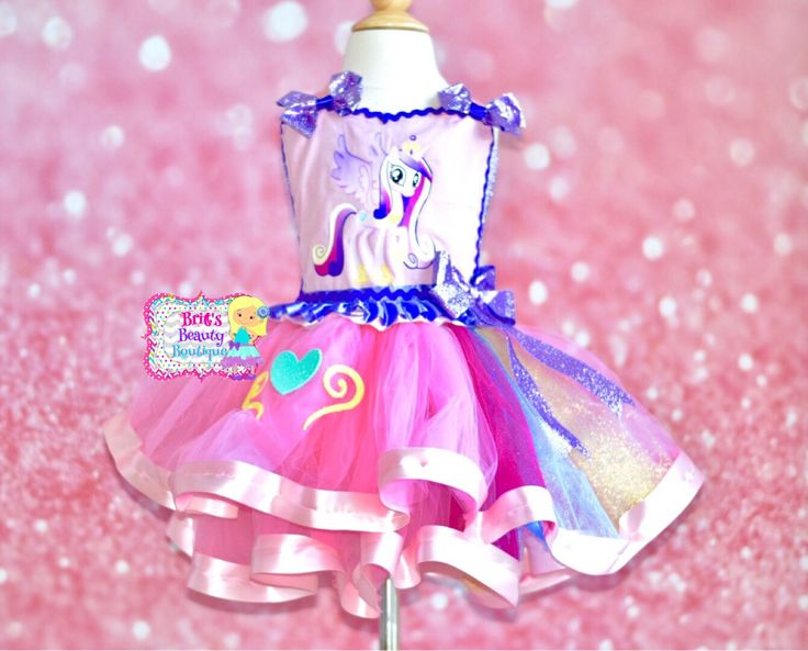 Inspired by Princess Cadence My Little Pony Tutu Dress/Halloween Tutu/Halloween Dress/Halloween Costume/My Little Pony Dress/Pageant Wear by BrittsBeautyBoutique on Etsy https://www.etsy.com/listing/543969345/inspired-by-princess-cadence-my-little