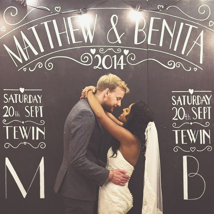 Wedding Backdrop Ideas With Wow Factor Chalkboard