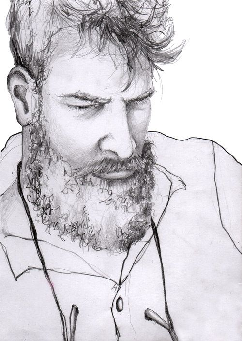 Lars  #illustration #painting #watercolor #fashion #drawing #portrait #beard
