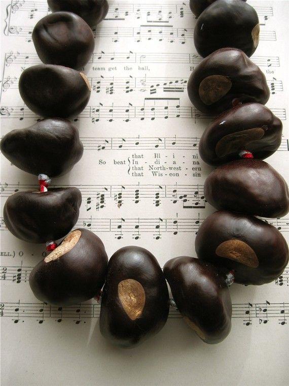 Big Buckeye Necklace - Ohio State University all natural buckeye nuts grown in Ohio on Etsy, $28.00