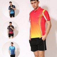 NEW Men's Badminton Wear Kit Athletic Wear Leisure Running 4 Colors 6 Size K_SMA035