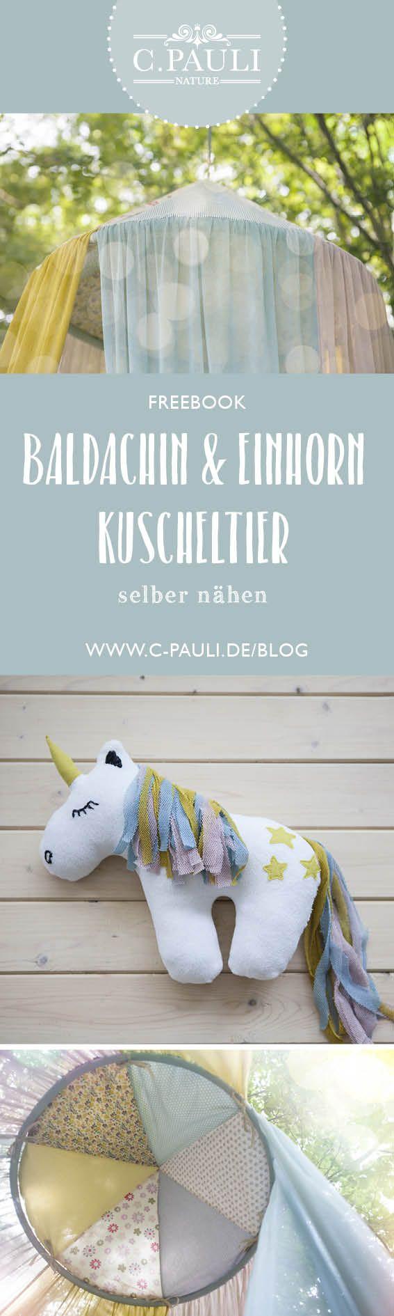 Baldachin aus Tüll und Popelin plus Einhorn Schmusetier | C.Pauli Nature Blog