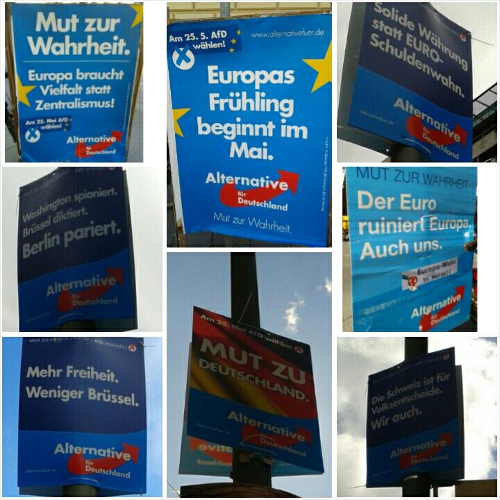 #EP2014 posters in Germany #AfD