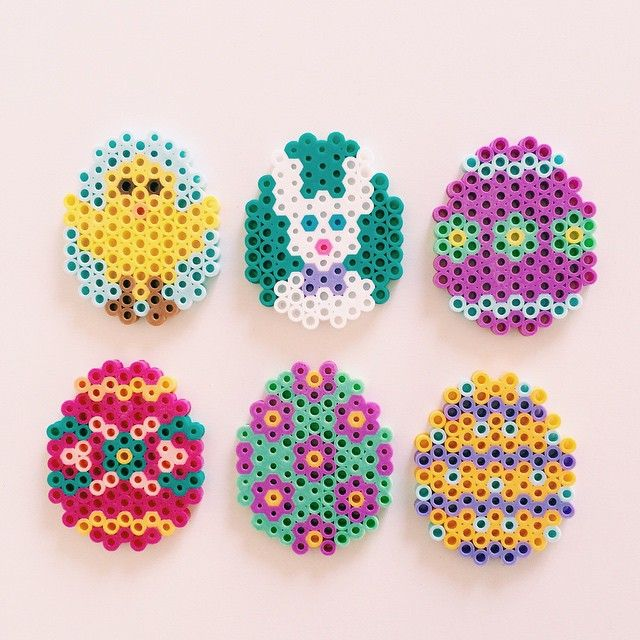 Easter eggs perler beads by acclairee