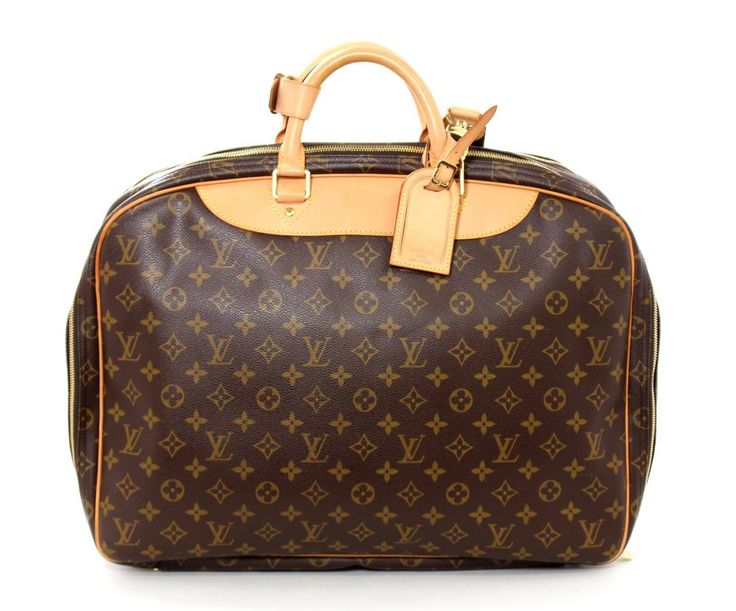 Louis Vuitton Alize Monogram Canvas Travel Bag- Unisex at 1stdibs