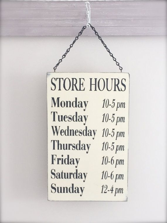 Business Hours Sign Store Hours Sign Boutique Sign Spa by InMind4U