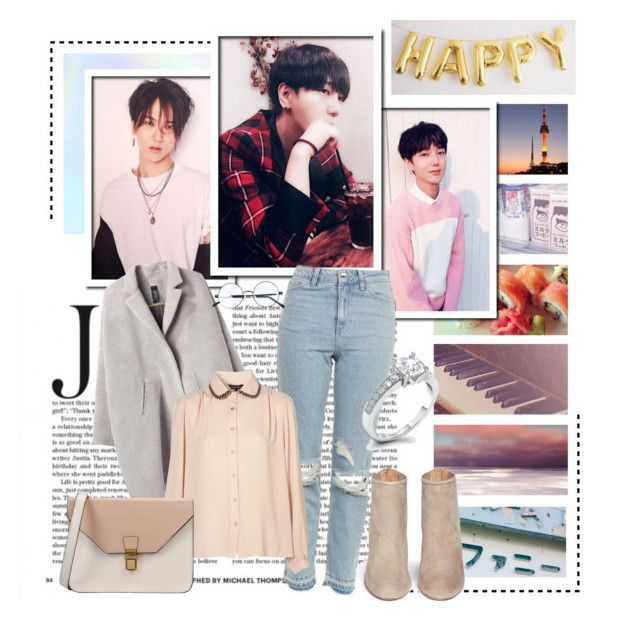 """""""290. Yesung"""" by staycloudyornah ❤ liked on Polyvore featuring Topshop, Zero + Maria Cornejo, Aquazzura and 8"""