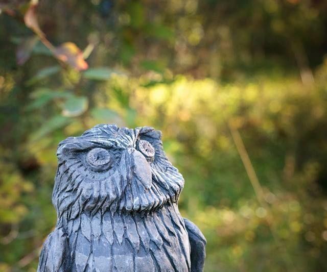 ceramic Owl sculpture
