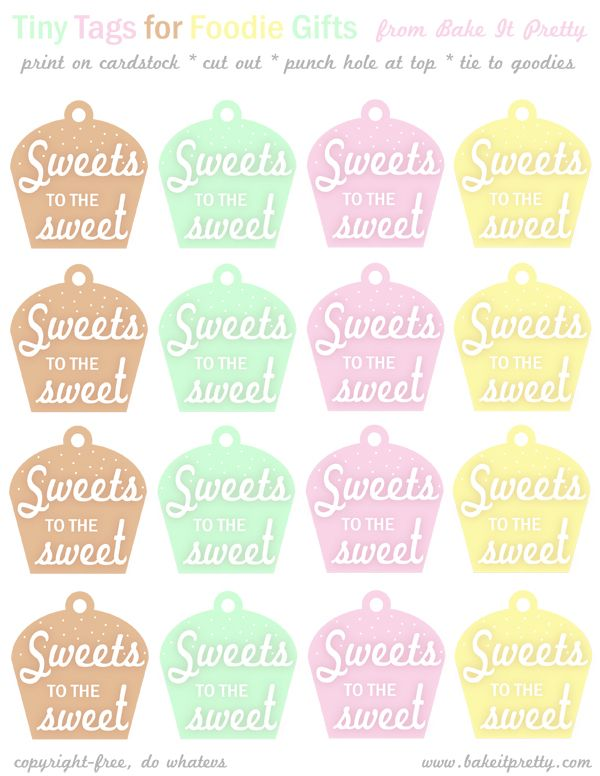 21 best print images on pinterest tags free printable labels free printable cupcake tags for homemade goodies need to print off a sheet and add to my kitchen drawer of printables for homemade goodness from the negle Choice Image