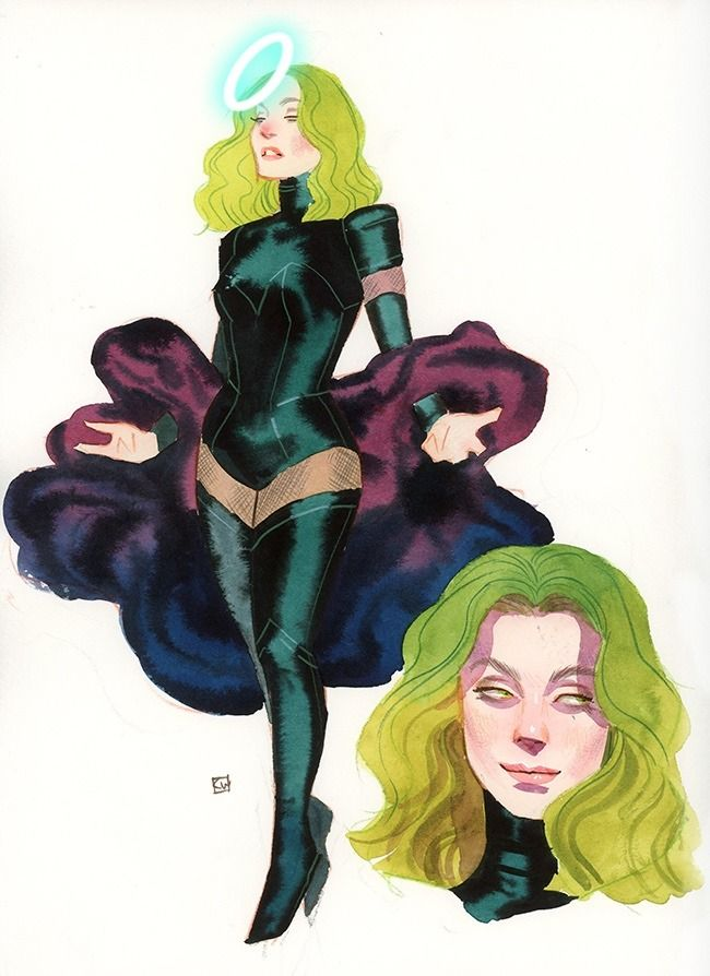 """kevinwada: """"Polaris redesign from the Designing X-Women panel at Flame Con 2017 """""""