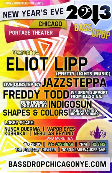 NYE Chicago: Live Music, Art, & Performance- Electronic-Funk-Dubstep-Jazz-Hip-Hop
