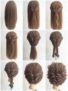 Frisur | Verflochtener Updo