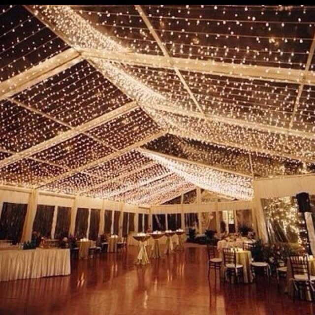 Clear Tent Draped With Lights Gorgeous Wedding