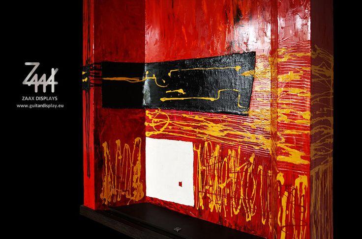 "Wall guitar display ""Red Satisfaction"""