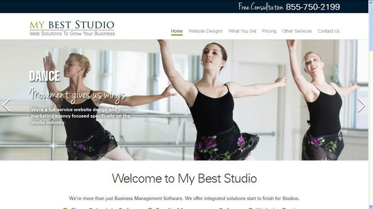 We specialize in the best web design of dance studio websites. Awesome Design Ideas for Dance Studio. - http://www.mybeststudio.com/website-designs.php